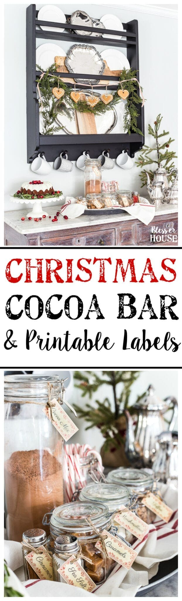 Cozy Hot Cocoa Bar And Printable Labels Blesser House
