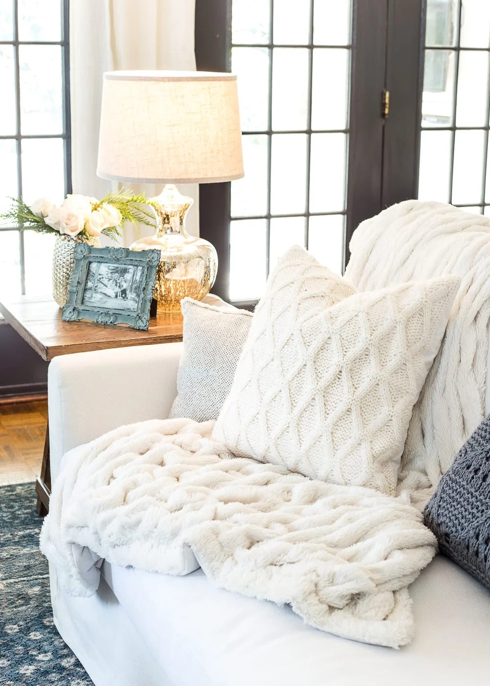 6 Ways to Make Your Home Feel Cozy After Christmas | blesserhouse.com - 6 surefire ways to decorate your home feel cozy after Christmas during the cold winter months using proven methods from the Hygge lifestyle. #winterdecor #cozydecor #afterchristmas #hygge