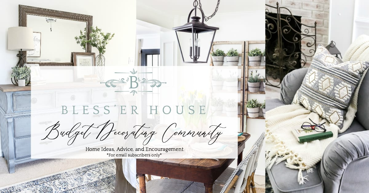 A free budget decorating community with thrifty home decorating inspiration, advice, free printables, tutorials, and encouragement.