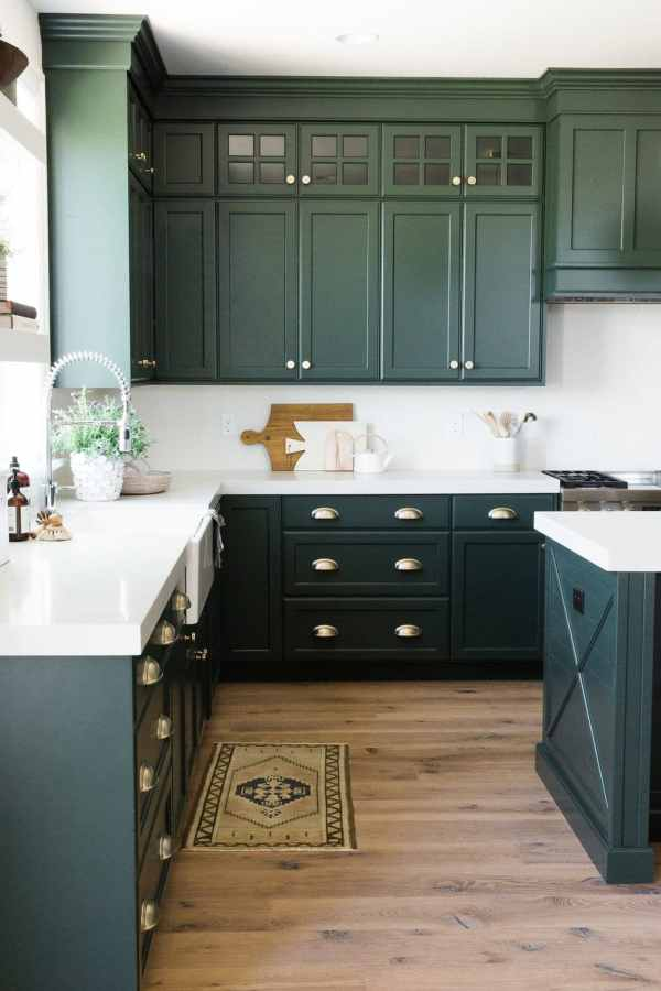 Green Color Kitchen Cabinets Green Kitchen CabiInspiration   Bless'er House