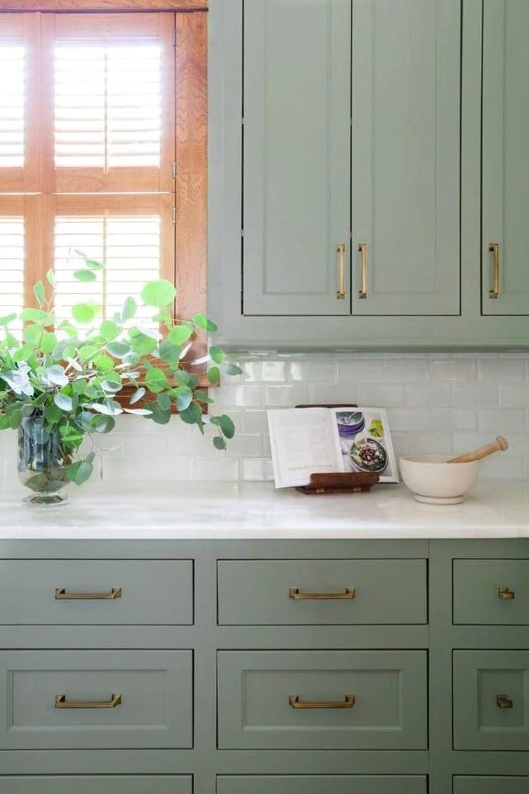 Green Kitchen Cabinet Inspiration - Anita Yokota method