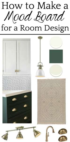 A step-by-step tutorial depicting how to make a mood board for planning a room makeover in your house to create a simple and seamless design process. #moodboard #roomdesign #designplanning #interiordesign #designboard