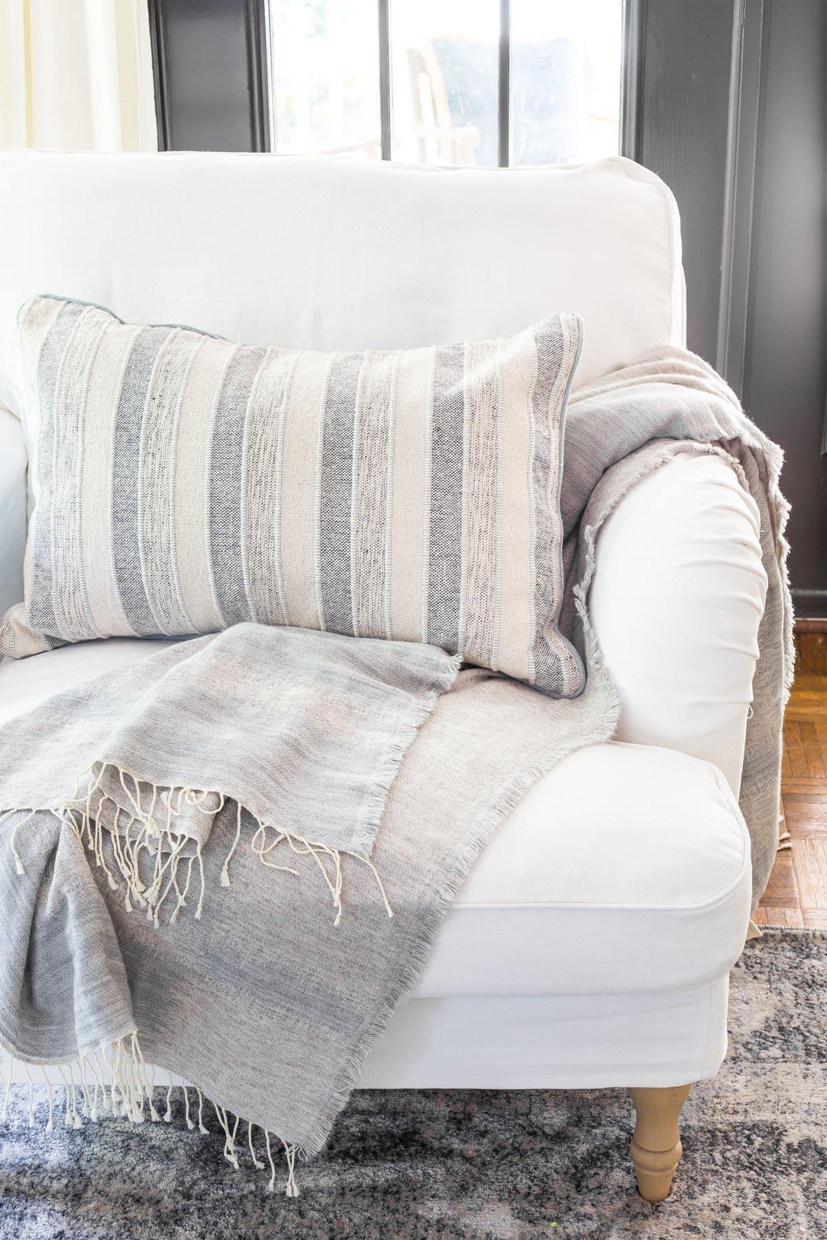 IKEA Stocksund armchair with Bemz slipcover