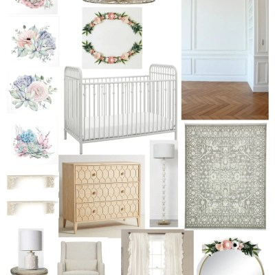 All White Nursery Design Plan