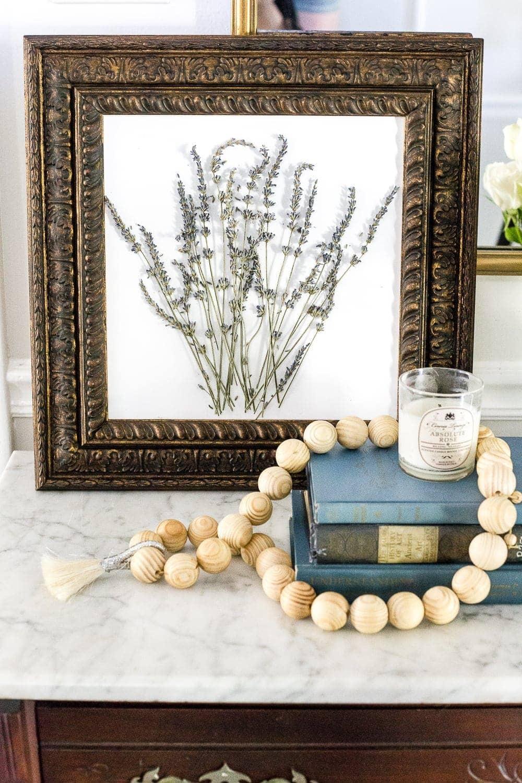 pressed lavender art