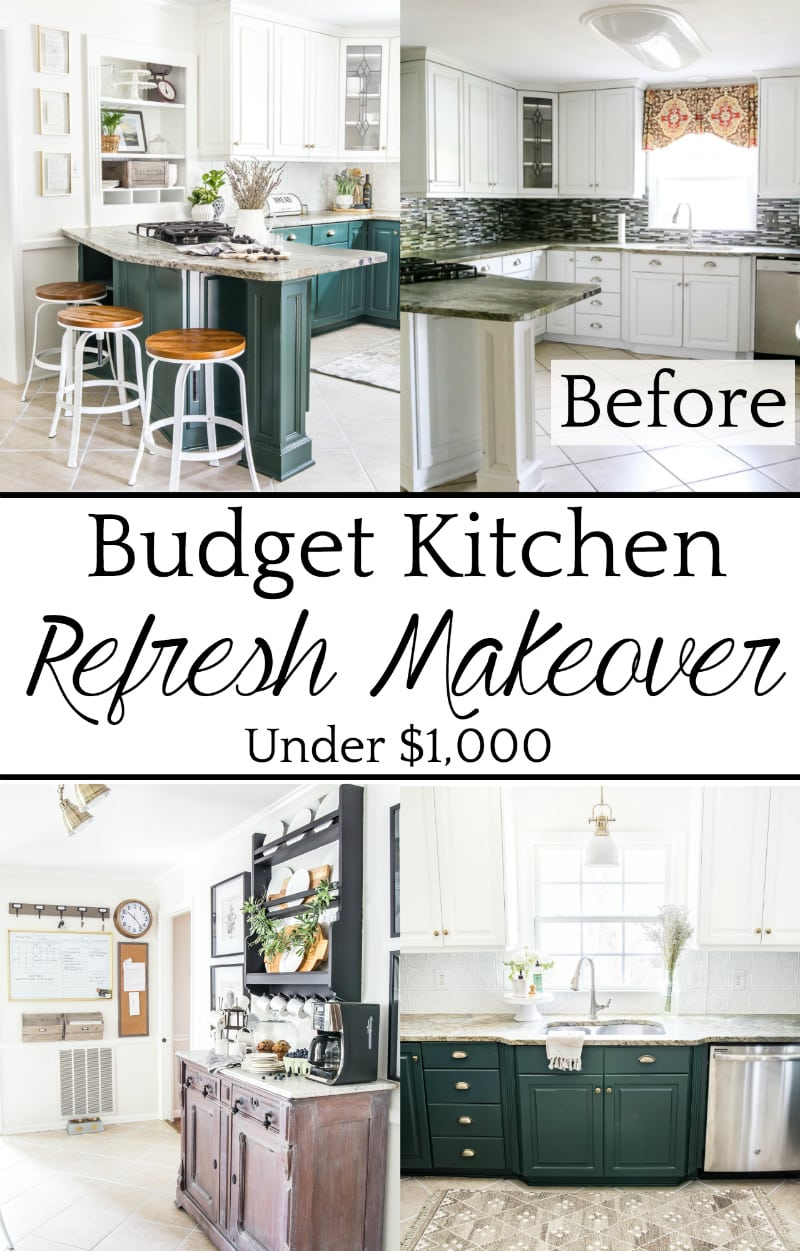 Top 10 Home and DIY Blog Posts of 2018 | Budget Kitchen Refresh Makeover Under $1,000