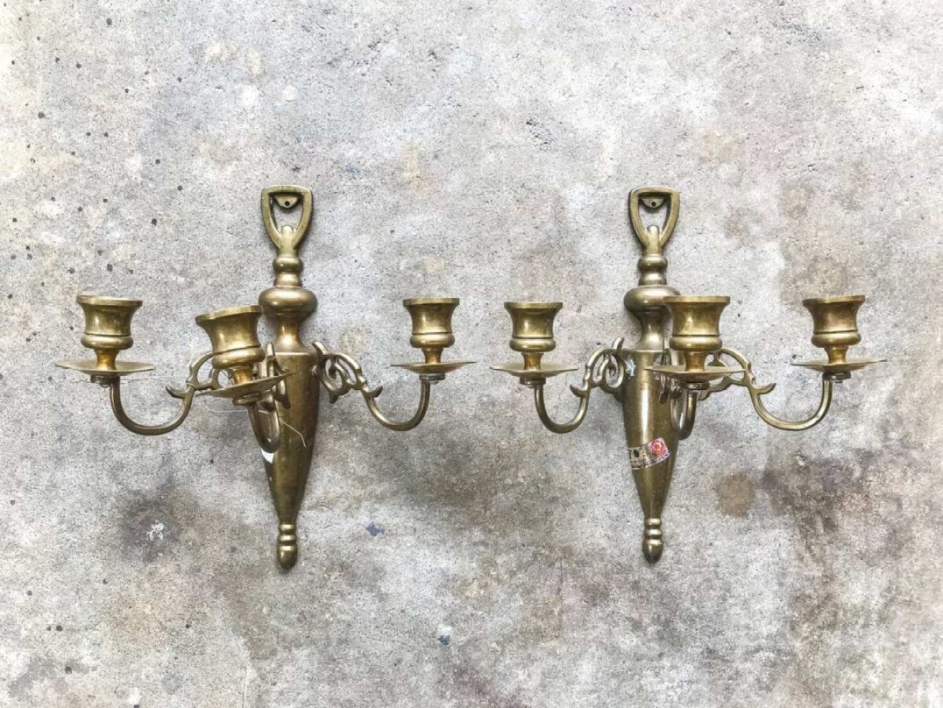 80s brass sconce makeover