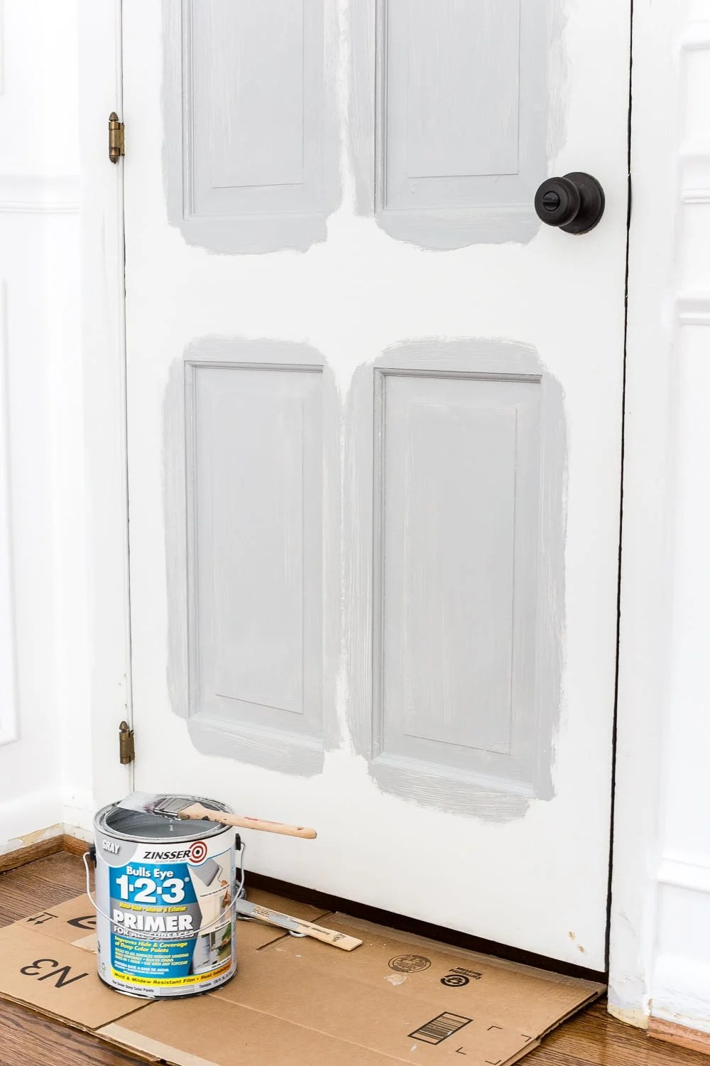 How to paint interior doors