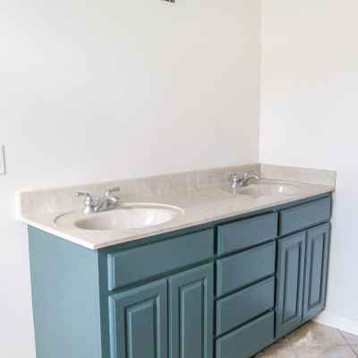 Painted Master Bathroom Refresh Update