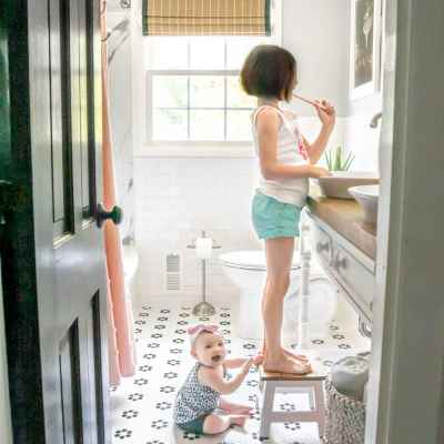 Kids Bathroom Makeover Reveal
