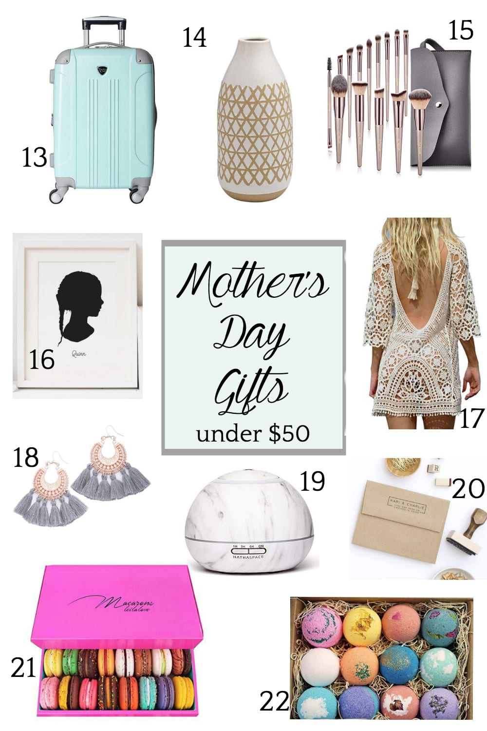 Mother's Day Gifts Under $50 | blesserhouse.com - 22 Mother's Day gifts full of sentimental meaning, luxurious pampering, and special treats for a bargain. #mothersdaygifts #mothersdaygiftguide