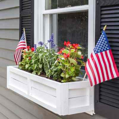DIY Window Box from Repurposed Scrap Wood