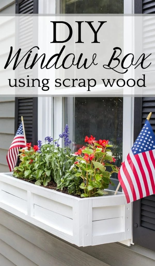 DIY Window Box from Repurposed Scrap Wood | A step-by-step tutorial for how to build a window box using scrap wood to add charm and curb appeal to exterior windows. #diywindowbox #windowbox #curbappeal #planterbox #scrapwood