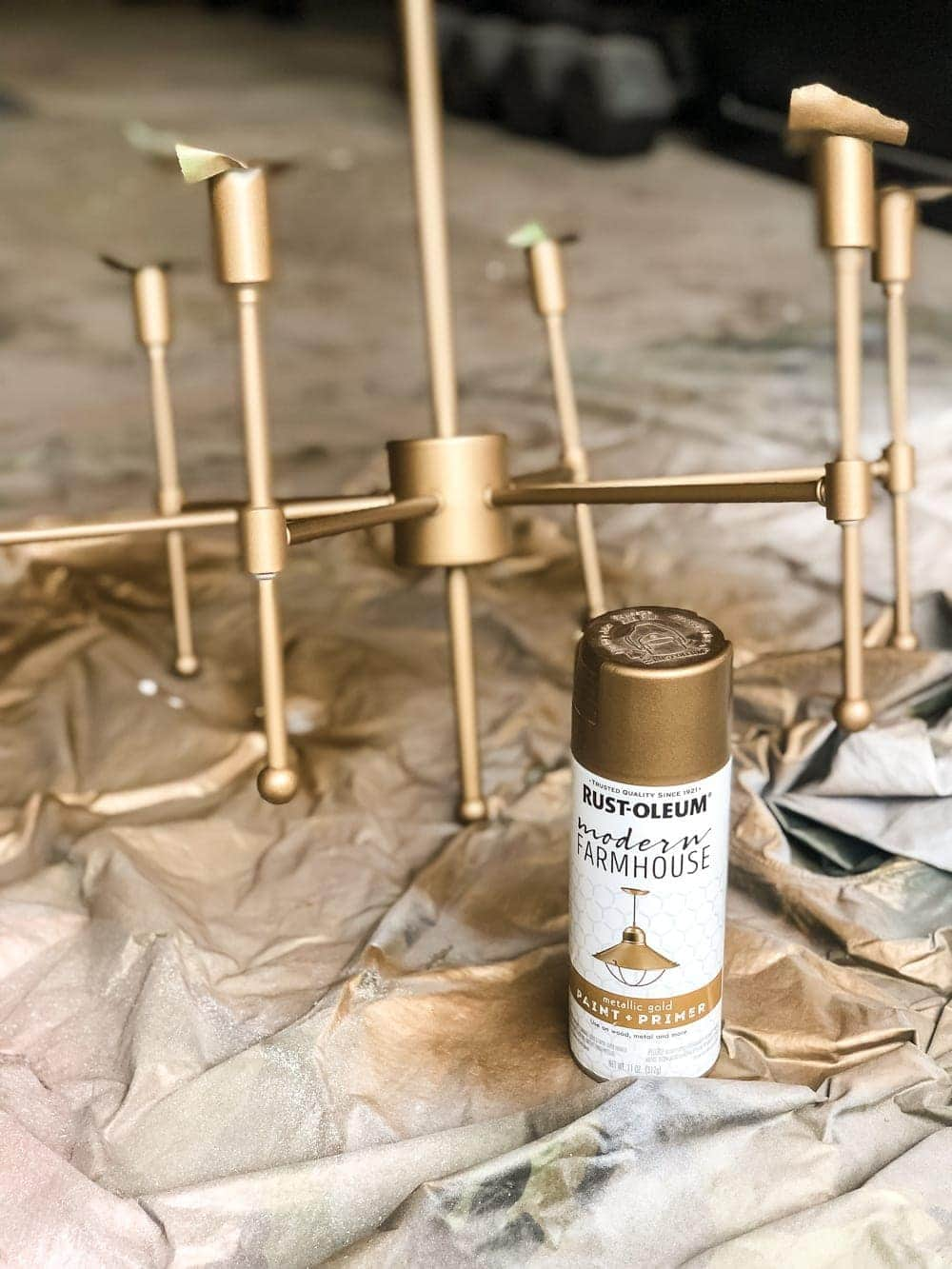 The best aged brass spray paint to create a high end designer look on anything easily and inexpensively.