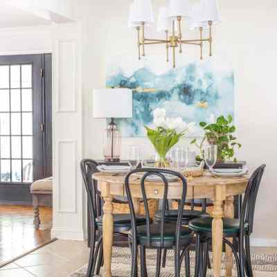 Breakfast Nook Refresh Reveal