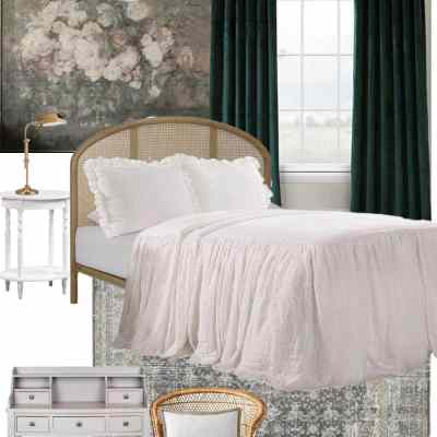 Guest Bedroom Makeover Mood Board Plan