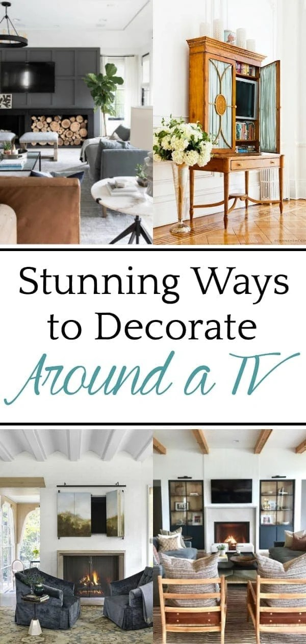 12 Ideas to Decorate Around a TV | A list of decorating solutions to hide and blend your television to make it work beautifully in any room.