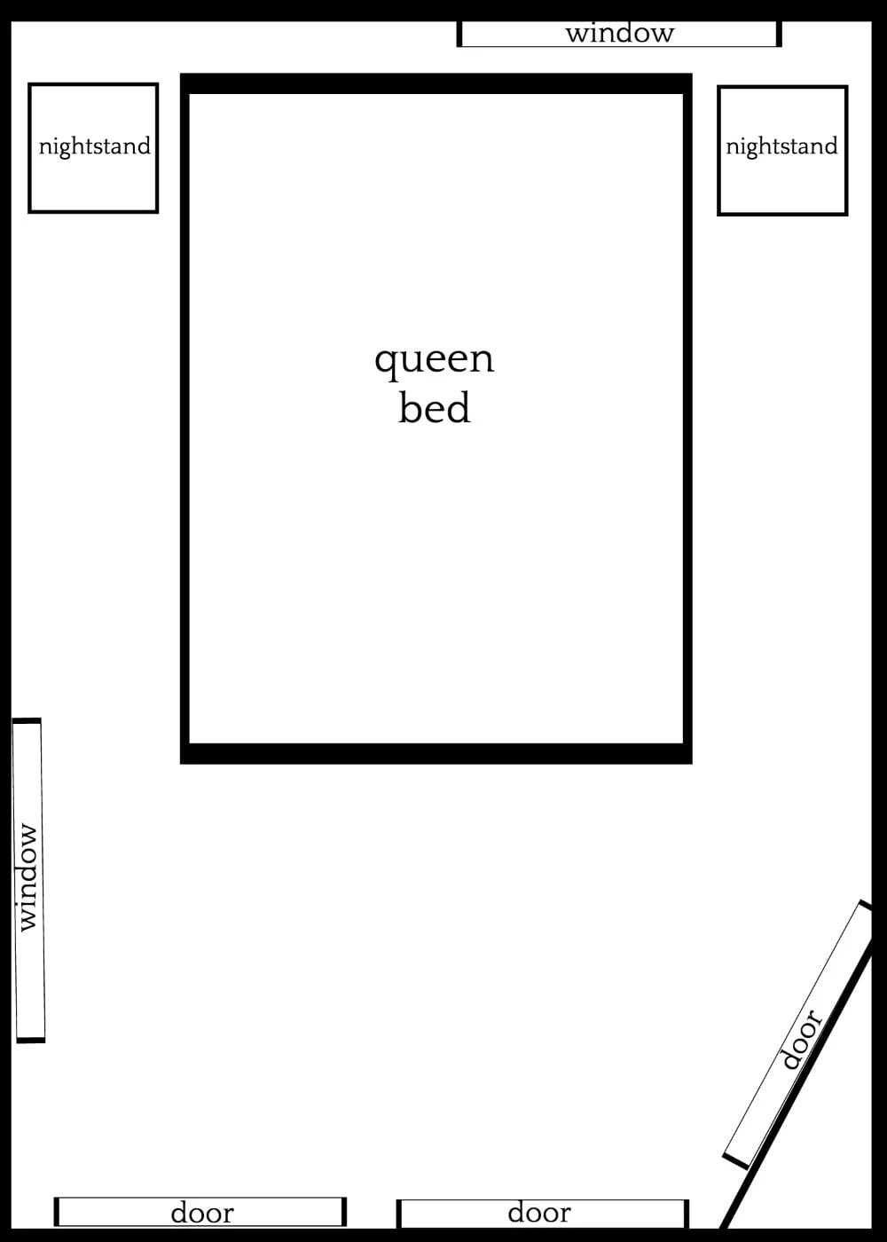 3 Furniture Layouts for a Small Bedroom With an Off-Centered Window