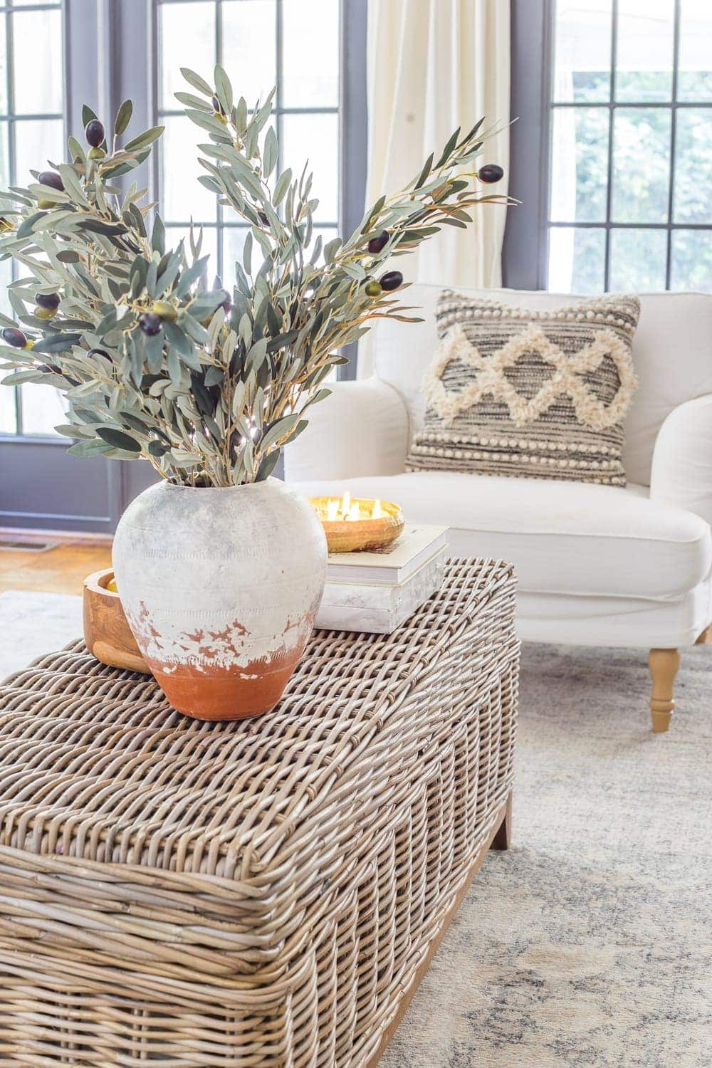Neutral Fall Faux Greenery | Why ditching traditional fall colors is a better decorating decision to stretch your dollars + the best neutral fall greenery and decor on sale.