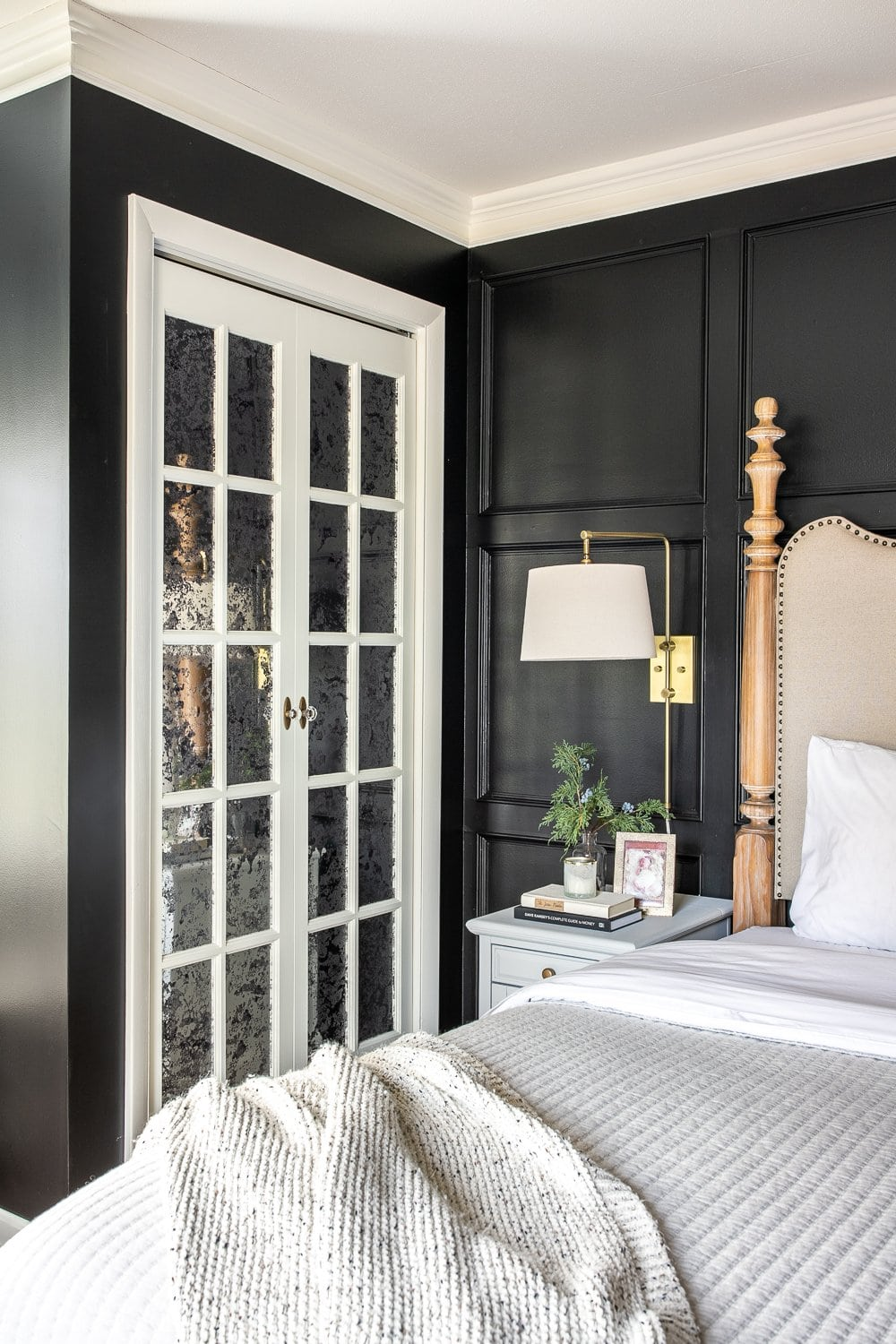 Master Bedroom Update Mirrored French Closet Doors Bless Er House