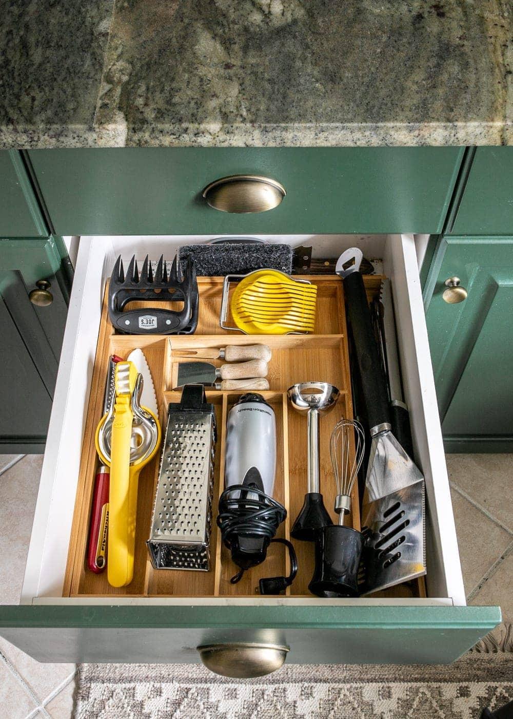 Kitchen Organization Makeover | Utensil Drawer Organization