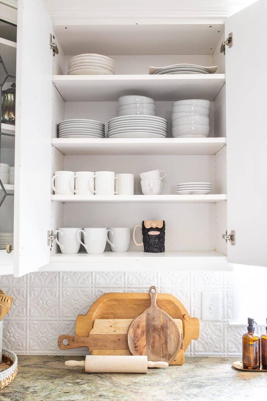 Kitchen Organization Makeover | Dishes Cabinet Organization
