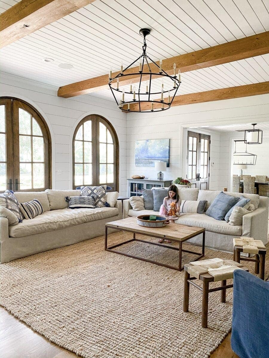 Sea Island Coastal House Tour | coastal living room