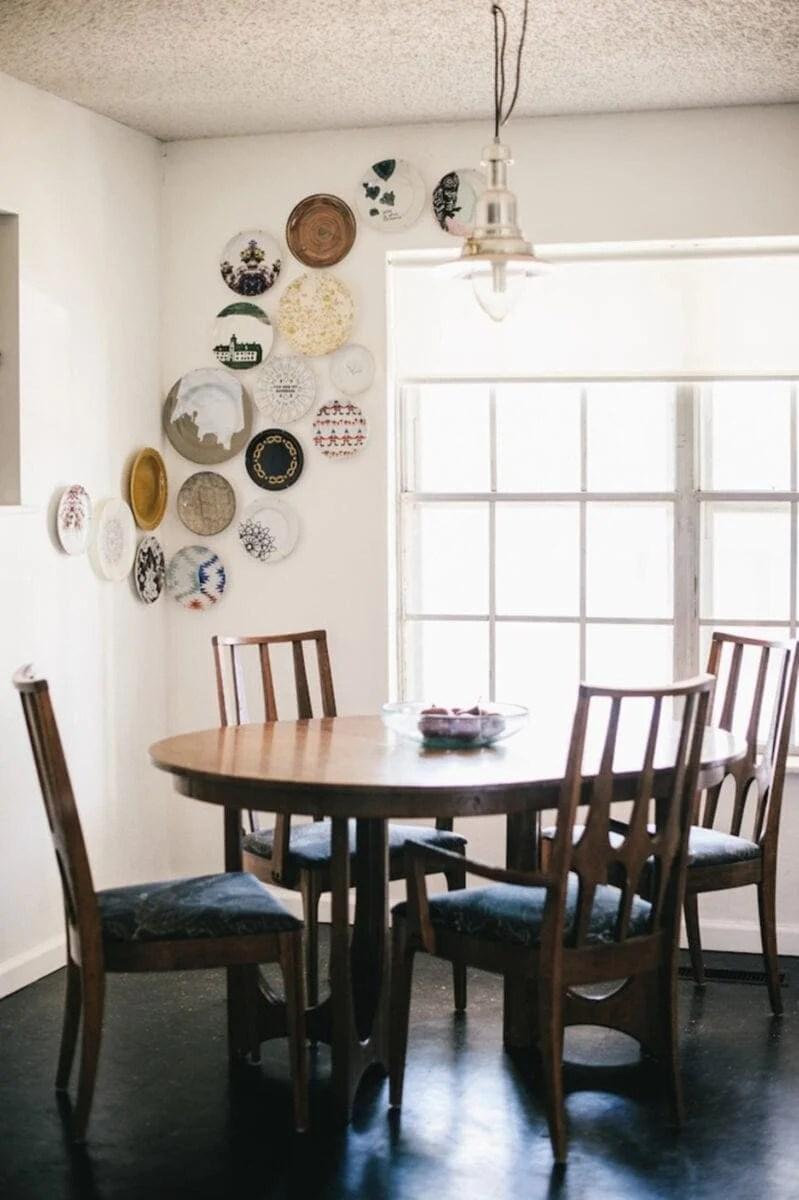 DIY Wall Decor Ideas | plate wall