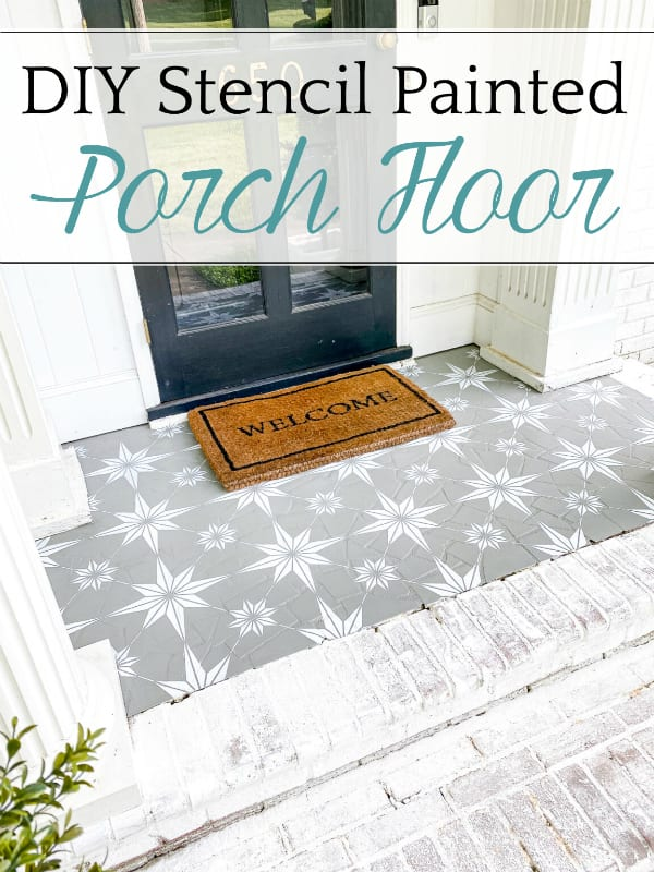 DIY Stencil Painted Porch Floor with Porch Paint | How to stencil a porch floor using porch paint + the method to make your design look flawless and how to make it last.