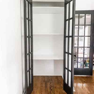 Easy DIY Closet Shelves & Bifolds to French Doors