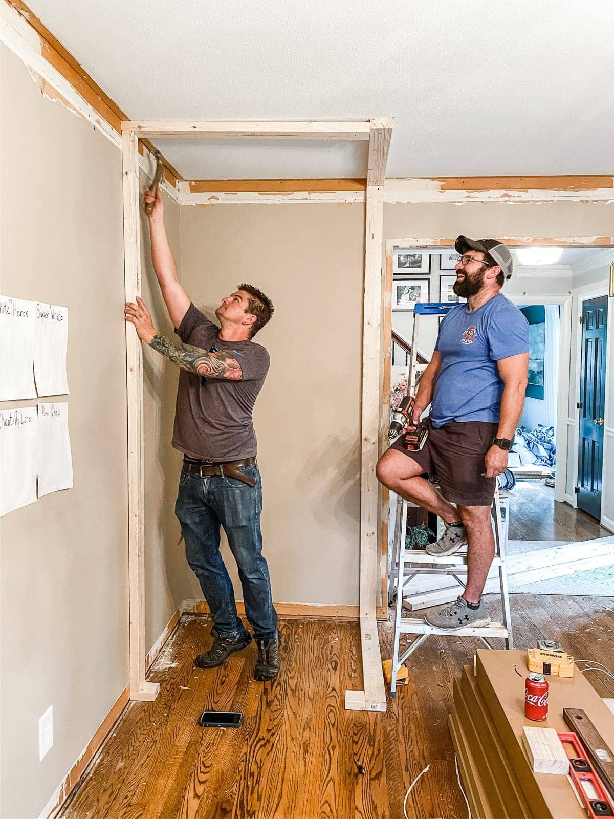How to Build a Closet   A step-by-step tutorial to DIY build a closet from scratch + home office makeover progress