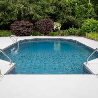 DIY Painted Concrete Pool Deck and Patio