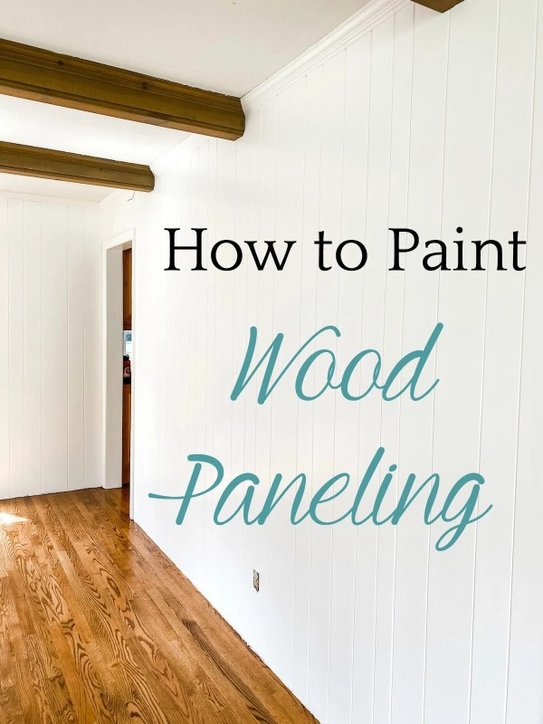 How to Paint Wood Paneling: A complete step-by-step tutorial for how to paint wood paneling on walls with full supply list for a simple paint update that lasts.