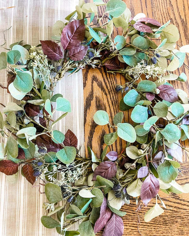 DIY neutral fall wreath