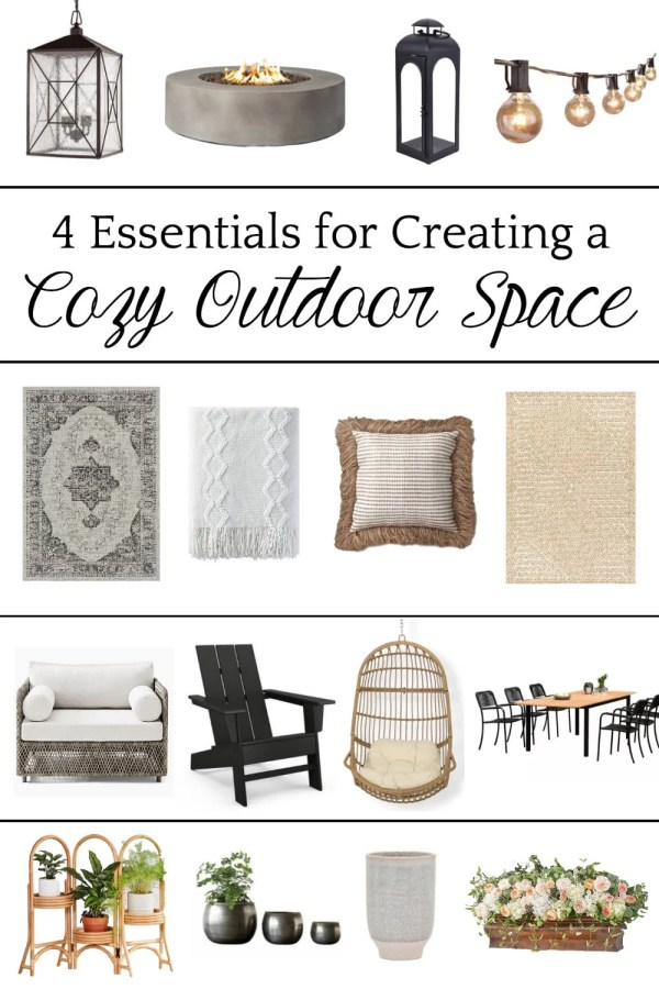 4 Essentials for Creating a Cozy Outdoor Space: 4 types of outdoor decor every porch, patio, and backyard needs to feel cohesive and inviting.
