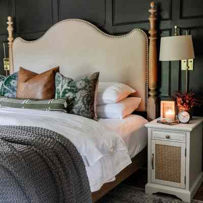 Modern Traditional Fall Bedroom