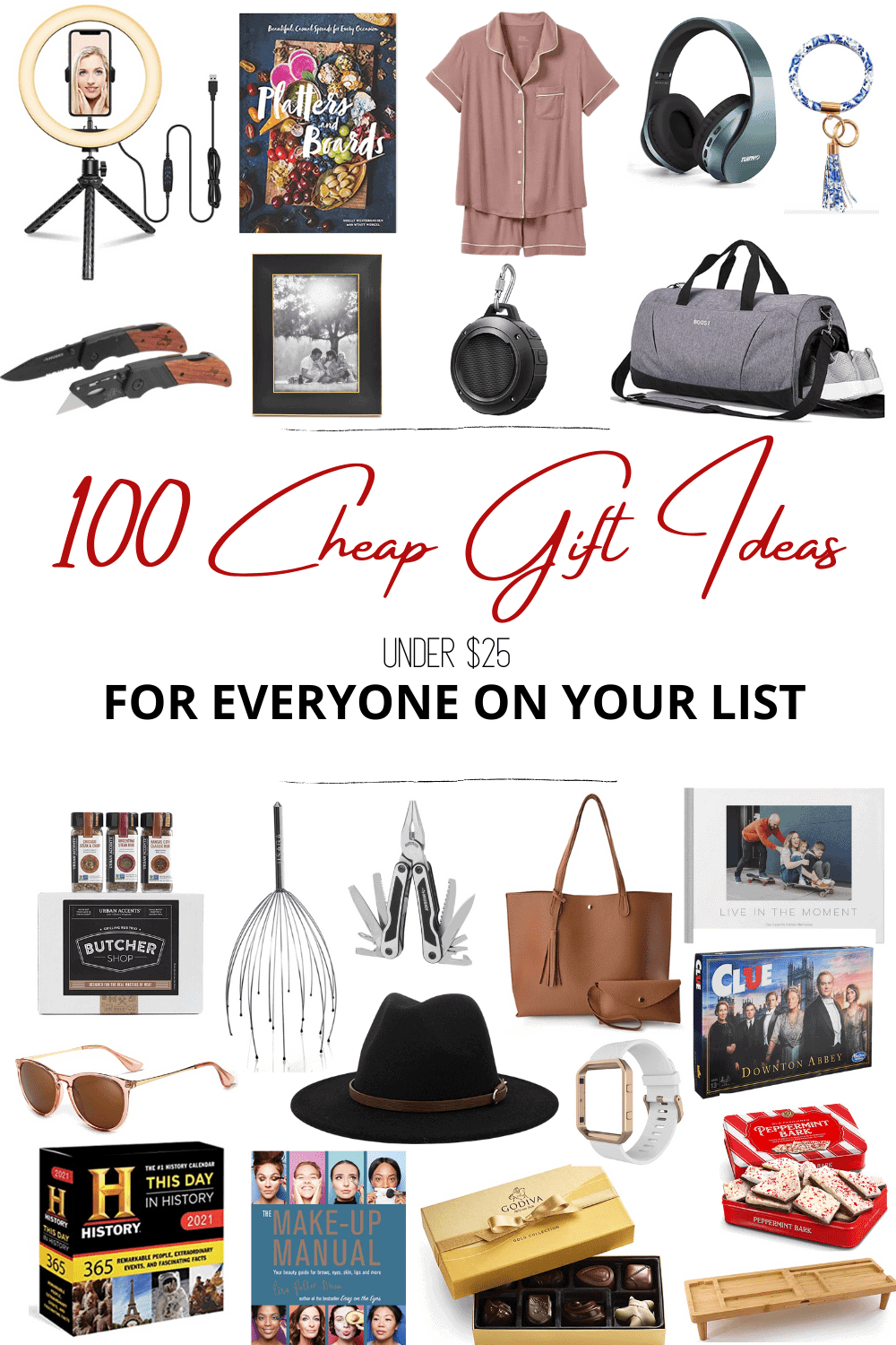 100 Cheap Gift Ideas for Christmas