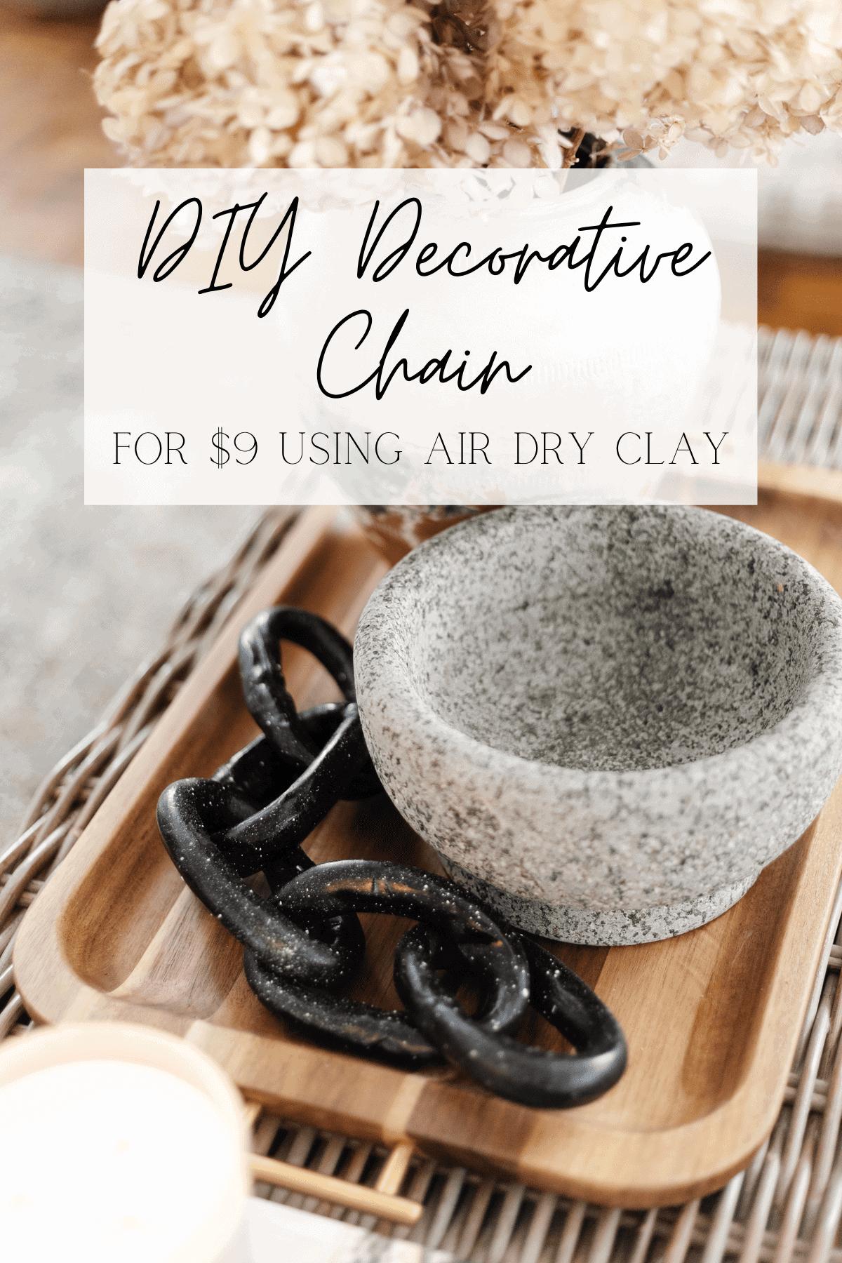air dry clay decorative chain