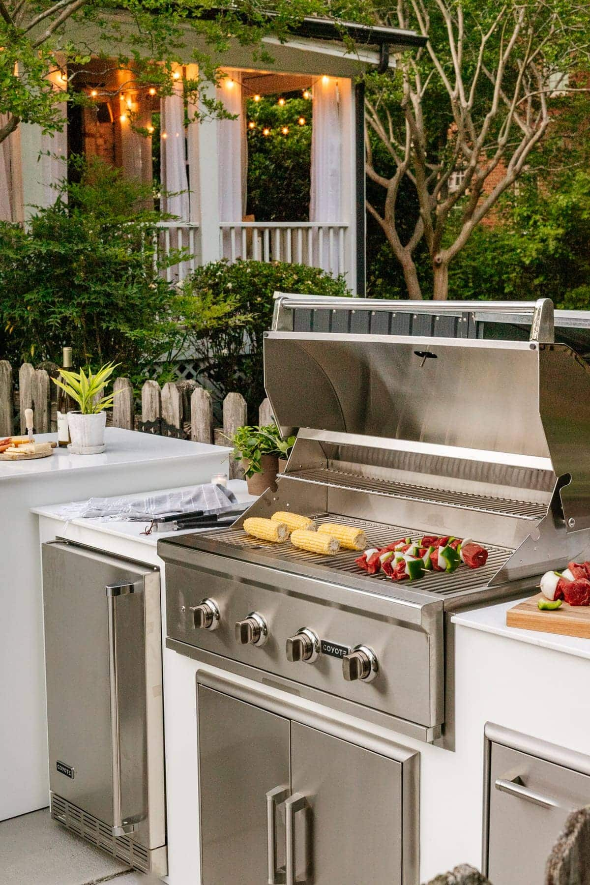 white modular outdoor kitchen from RTA Outdoor Living
