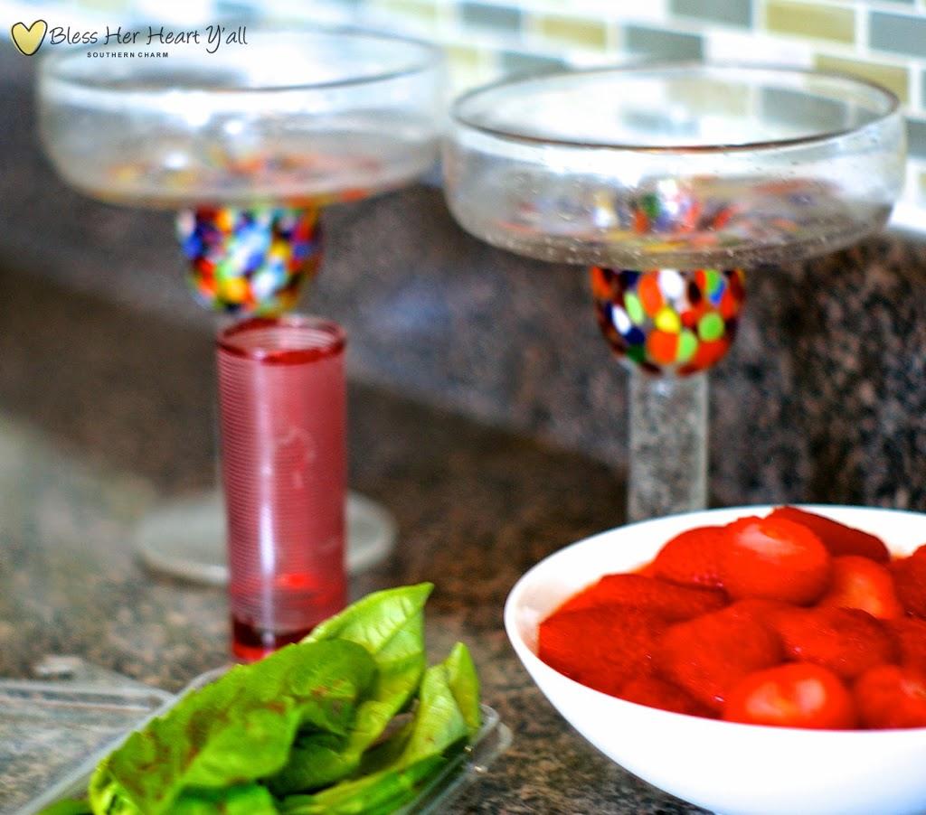 strawberry basil margaritas