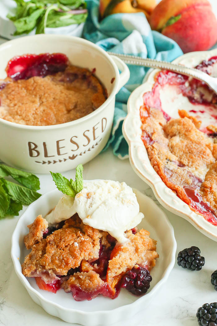 gluten free blackberry cobbler