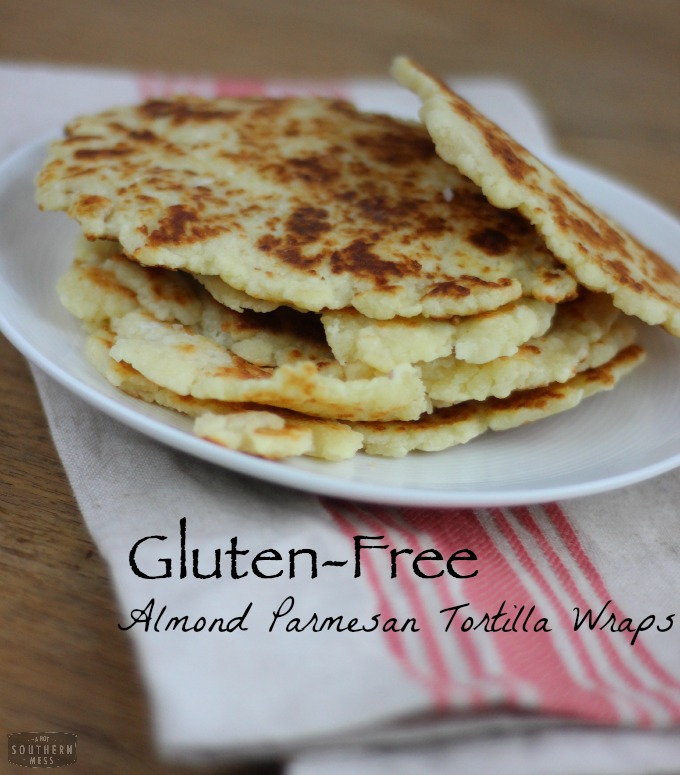 Gluten-Free Almond Parmesan Tortilla Wraps recipe