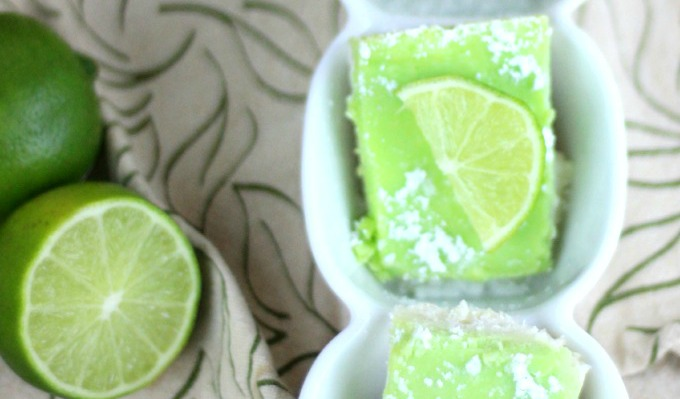 Yummy Lime Bars: Healthy Dessert For St. Patrick's Day recipe