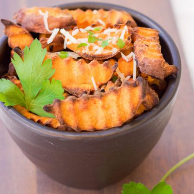 Baked Parmesan Sweet Potato Fries