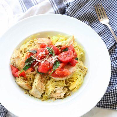 Spinach Tomato Spaghetti Squash