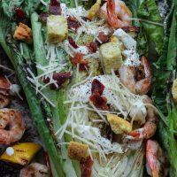 Grilled Shrimp + Chicken Caesar Salad