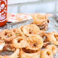 Honey + Sriracha Onion Rings