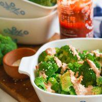 Roasted Sriracha Mayo Cream Broccoli