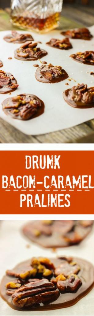 Drunk Southern Praline Caramels www.ahotsouthernmess.com