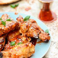 Honey Sriracha Grilled Wings (gluten-free)